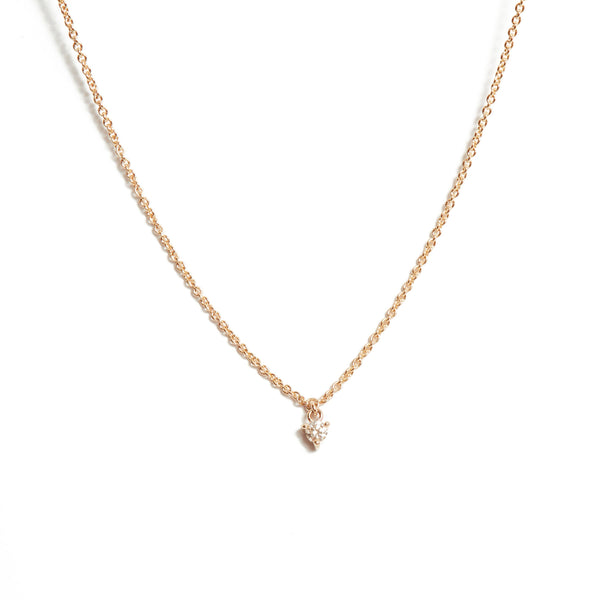 Fairy 5pt Diamond Necklace - 9ct Rose Gold