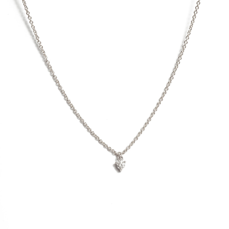 Fairy 5pt Diamond Necklace - 9ct White Gold