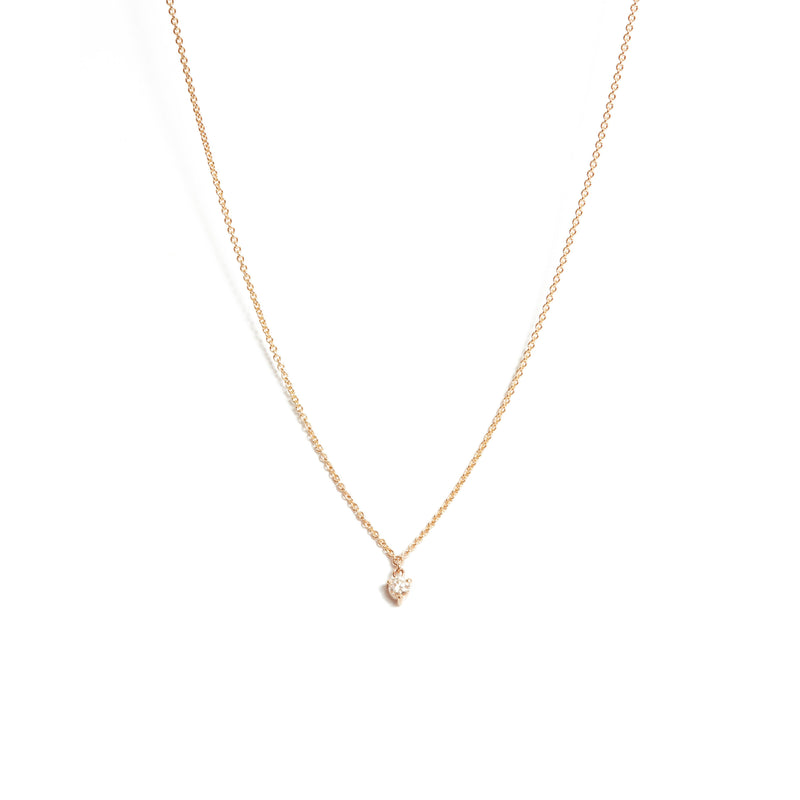 Fairy 10pt Diamond Necklace - 9ct Rose Gold