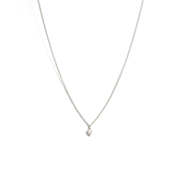Fairy 10pt Diamond Necklace - 9ct White Gold