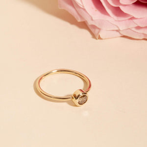 Neo Champagne Diamond Ring - 9ct Gold