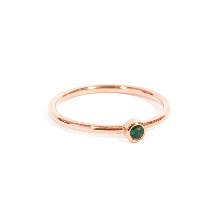 Neo Emerald Ring - 9ct Rose Gold