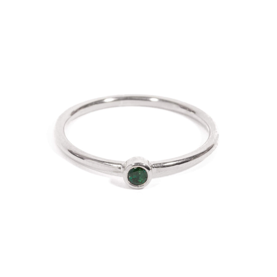 Neo Emerald Ring - 9ct White Gold