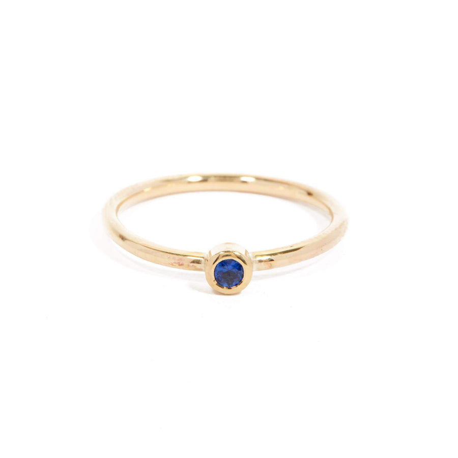 Neo Blue Sapphire Ring - 9ct Gold