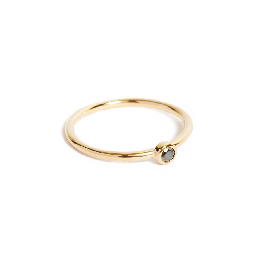 Neo Black Diamond Ring Large - 9ct Gold