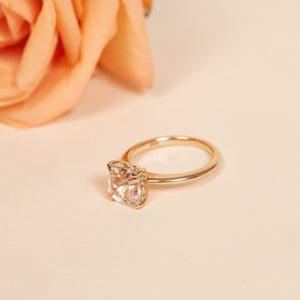 Peaches Morganite Ring - 14ct Rose Gold