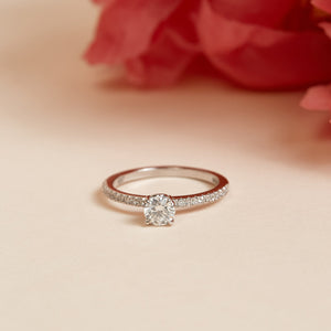 Love Diamond Ring - 14ct White Gold