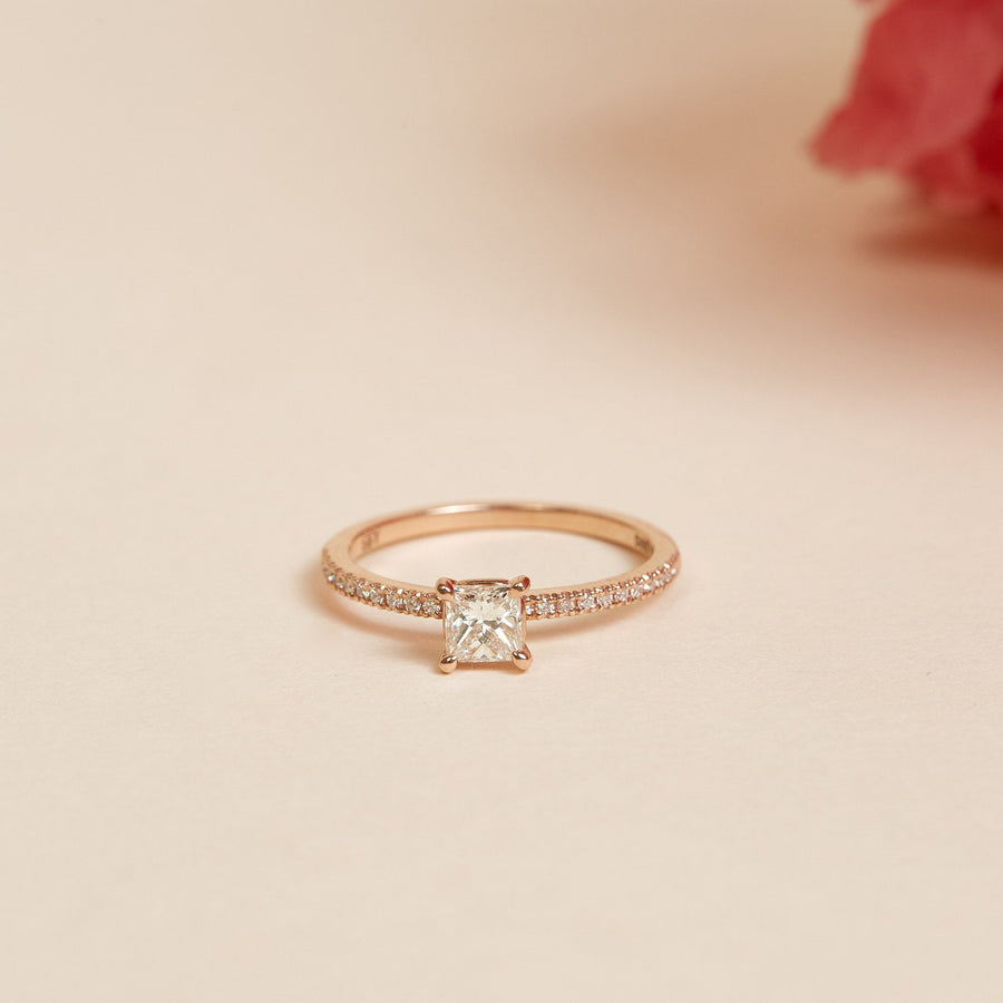 Heaven Diamond Ring - 14ct Rose Gold