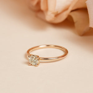 Honey Round Solitaire Ring - 14ct Rose Gold