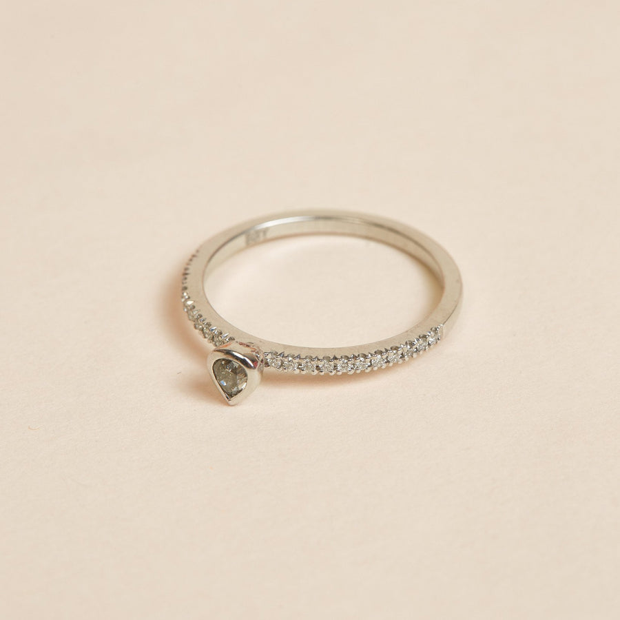 Ash Diamond Ring - 14ct White Gold