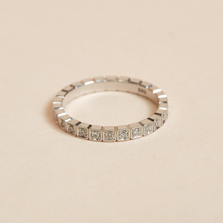Deco Diamond Ring - 14ct White Gold