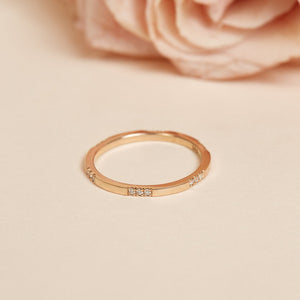 Sparkle Diamond Ring - 14ct Rose Gold