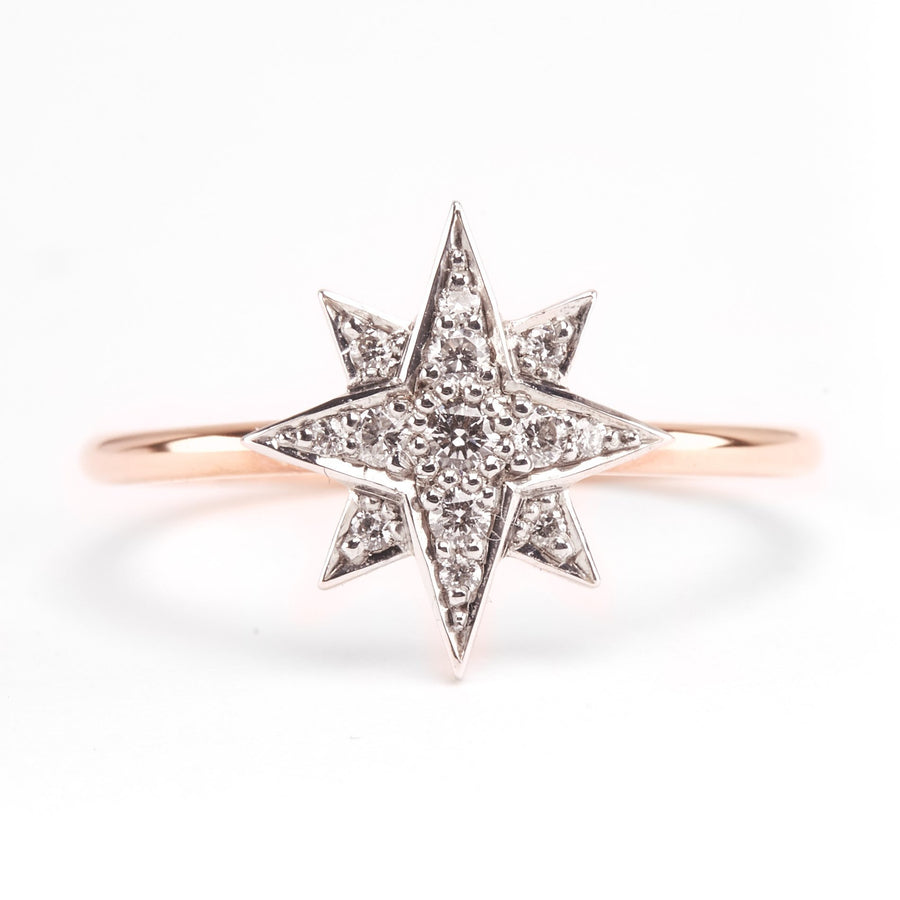 Aurora Diamond Ring - 9ct White & Rose Gold