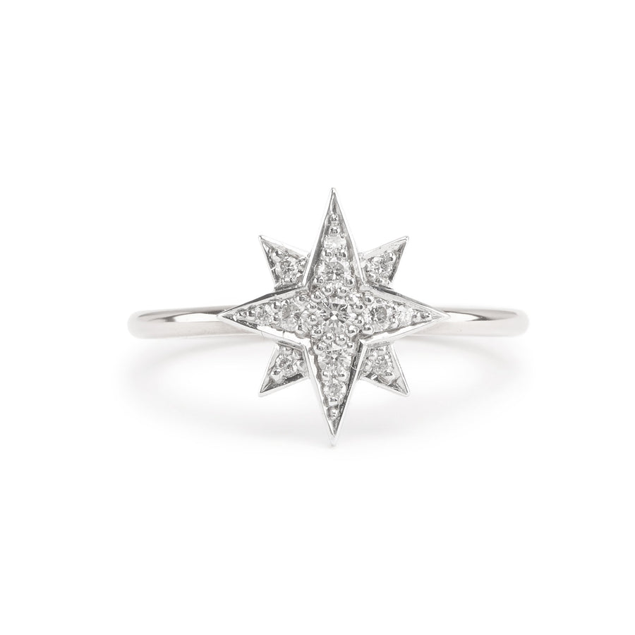 Aurora Diamond Ring - 9ct White Gold