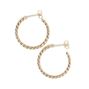 Baby Helix Hoops - 9ct Gold