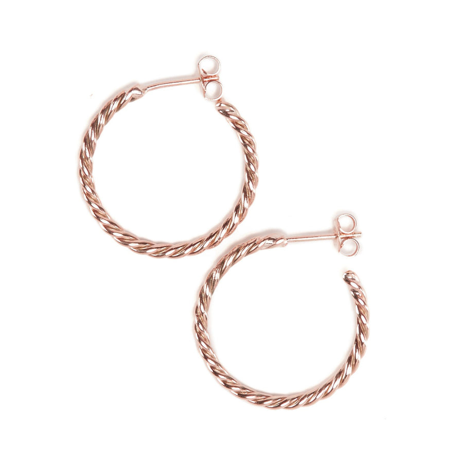 Baby Helix Hoops - 9ct Rose Gold
