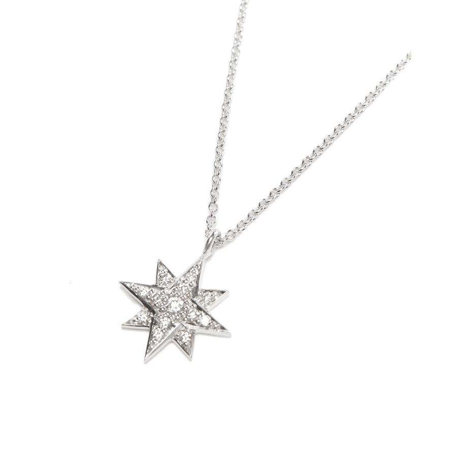Aurora Diamond Necklace - 9ct White Gold