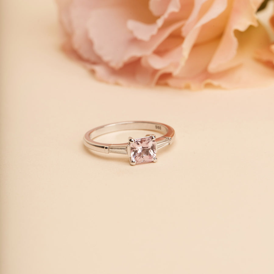 Sofia Pink Sapphire Ring - 14ct White Gold