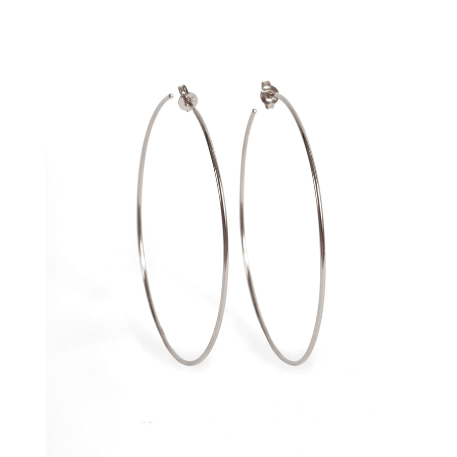 Honey Hoops - 9ct White Gold