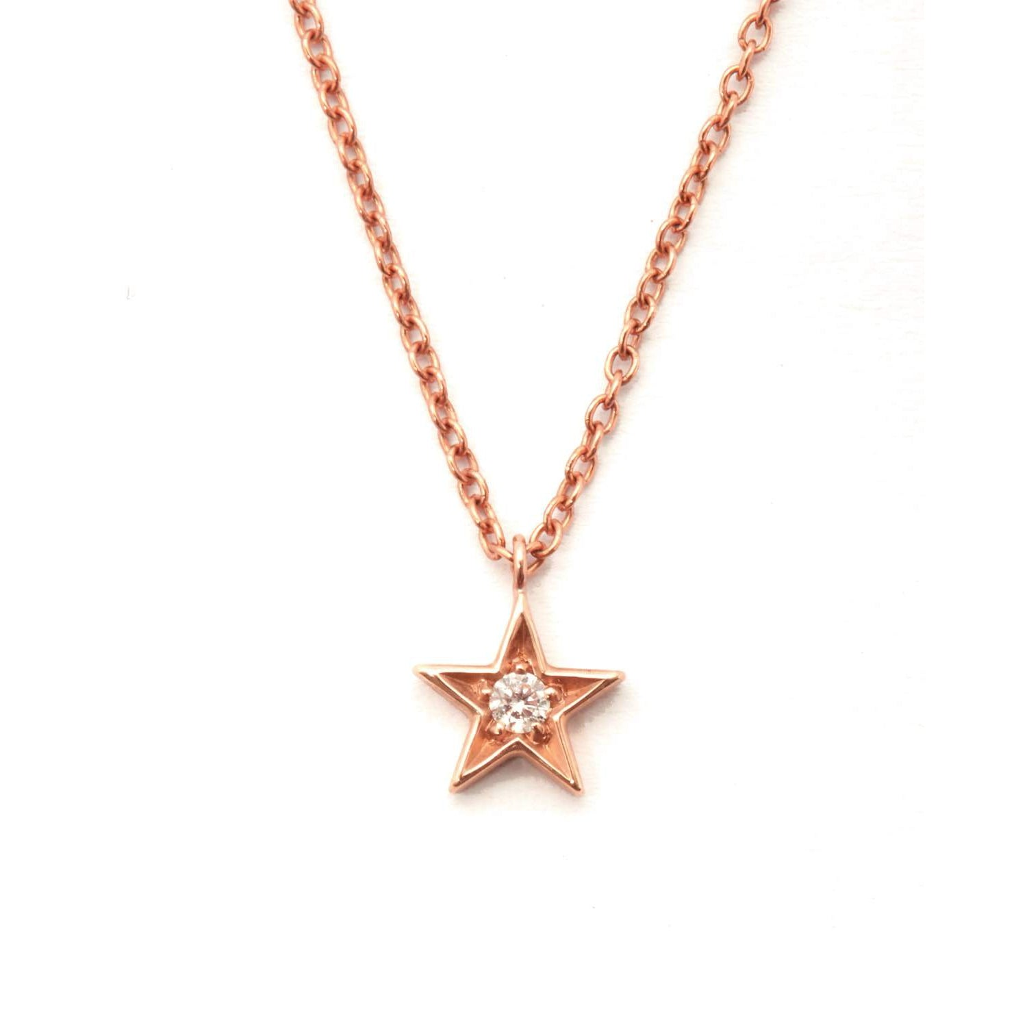 Star diamond necklace 9ct rose gold by baby fine jewellery star diamond necklace 9ct rose gold aloadofball Image collections