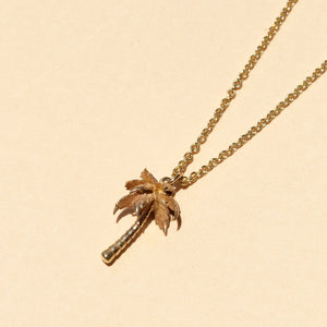 Palm Tree Necklace - 9ct Gold