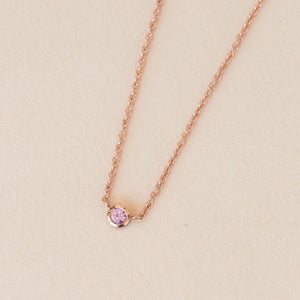 Neo Pink Sapphire Necklace - 9ct Rose Gold