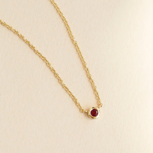 Neo Ruby Necklace - 9ct Gold