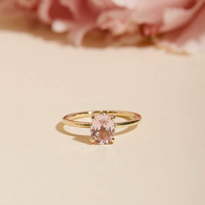 Lily Pink Sapphire Solitaire Ring - 14ct Gold