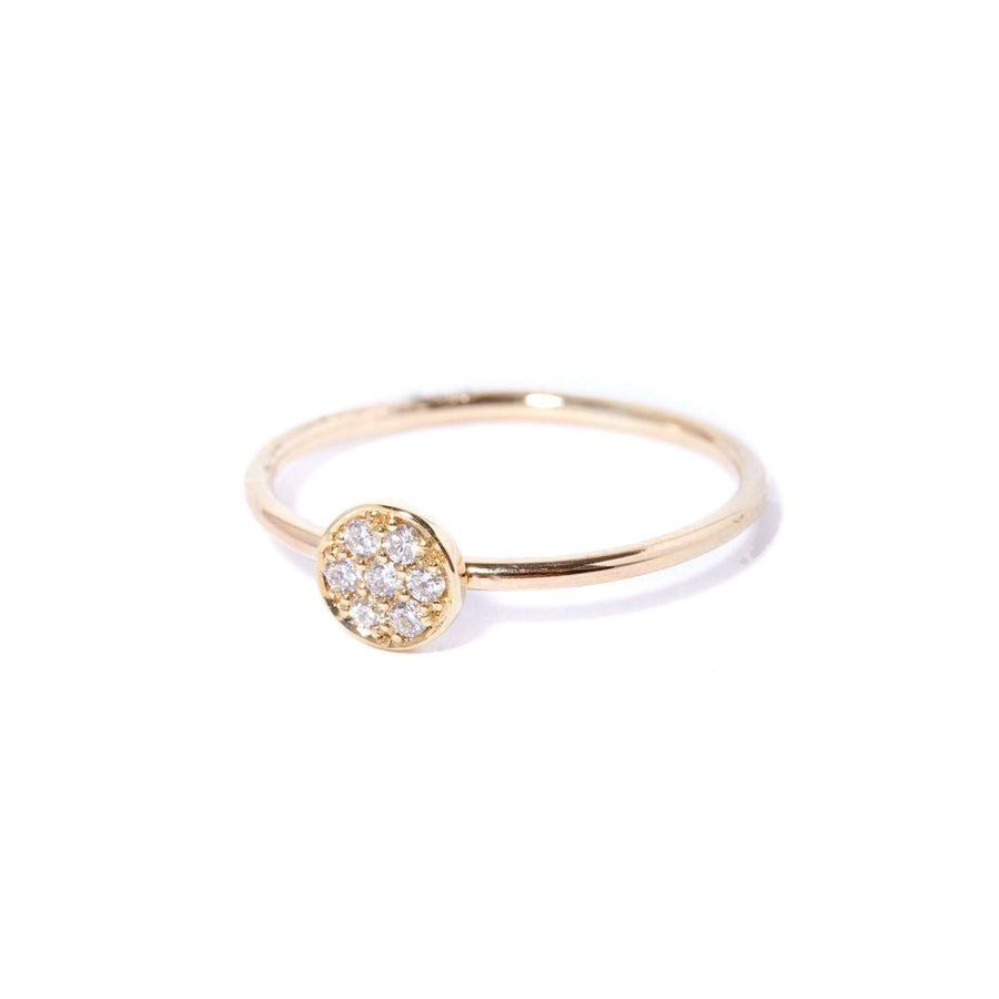 Petite Pave Diamond Ring - 9ct Gold