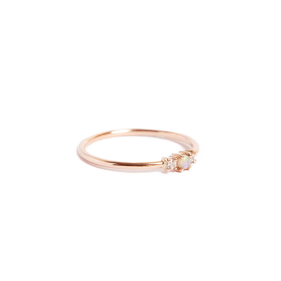 Jupiter Opal & Diamond Ring - 9ct Rose Gold