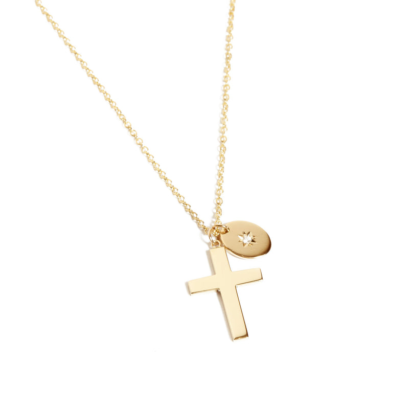 Star Crossed Lovers Necklace - 9ct Gold