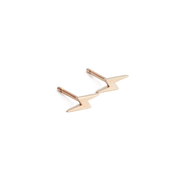 Lightning Bolt Stud - 9ct Rose Gold