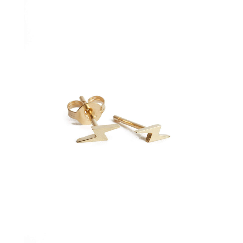 Lightning Bolt Stud - 9ct Gold