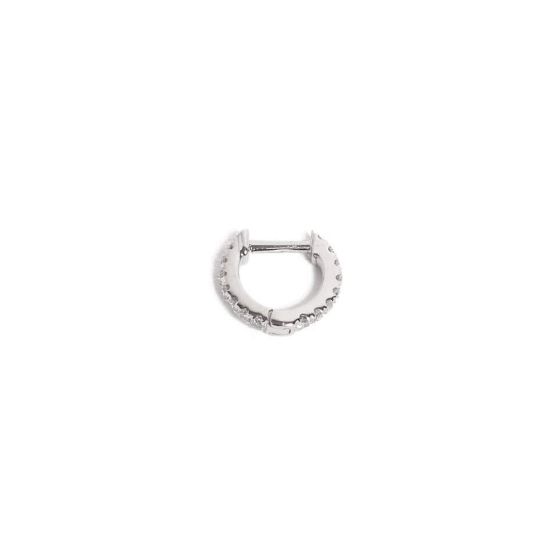 Diamond Huggie Extra Small - 14ct White Gold