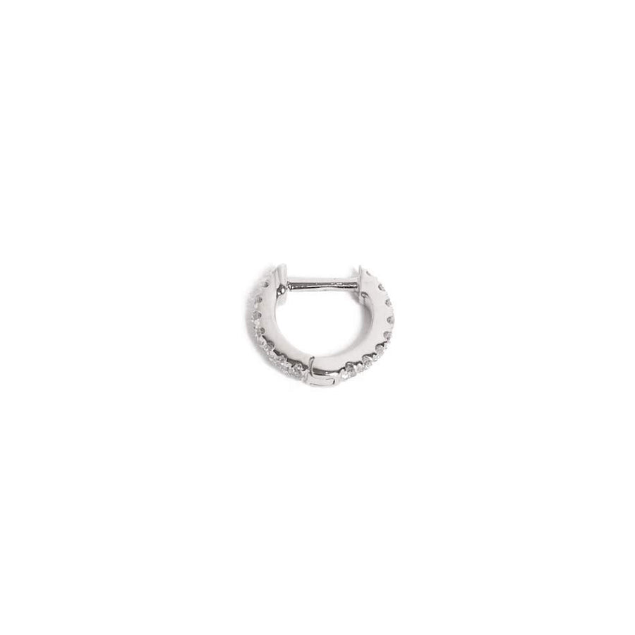Diamond Huggies Extra Small - 14ct White Gold
