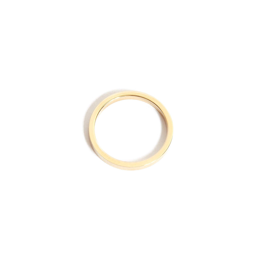 Flat Ring 2mm - 14ct Gold