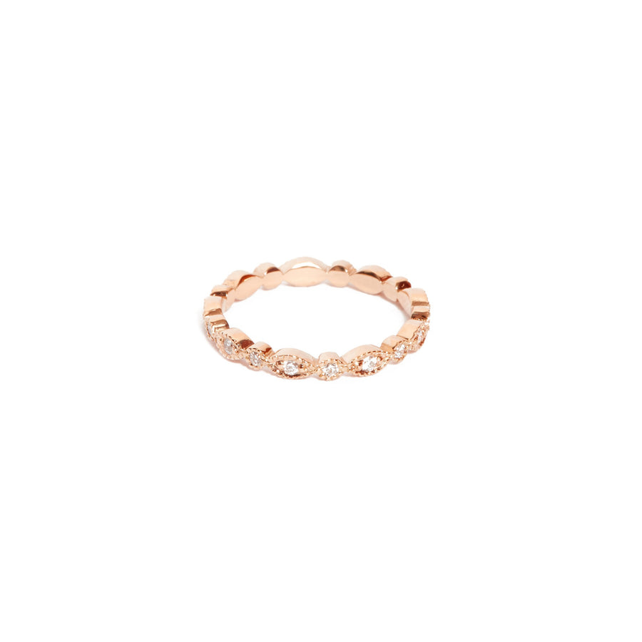 Lotus Diamond Ring - 14ct Rose Gold