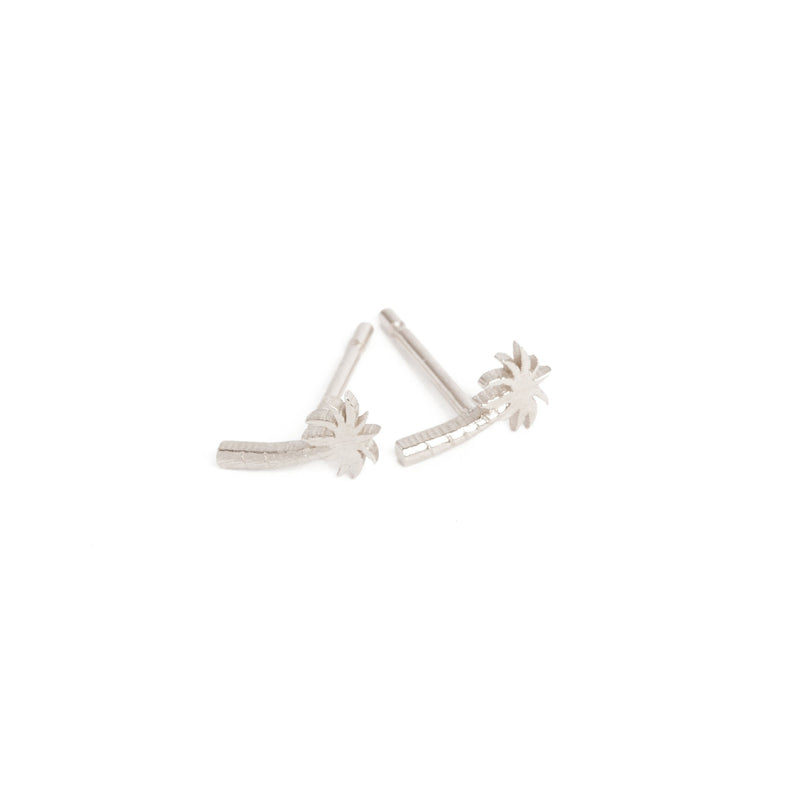 Palm Tree Stud - Silver