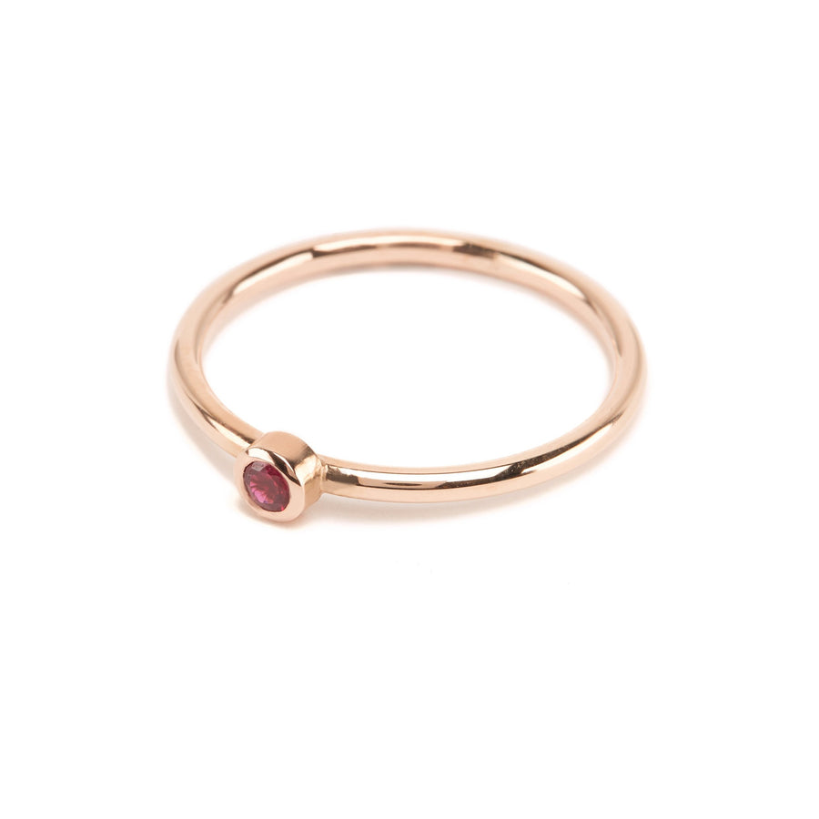 Neo Ruby Ring - 9ct Rose Gold