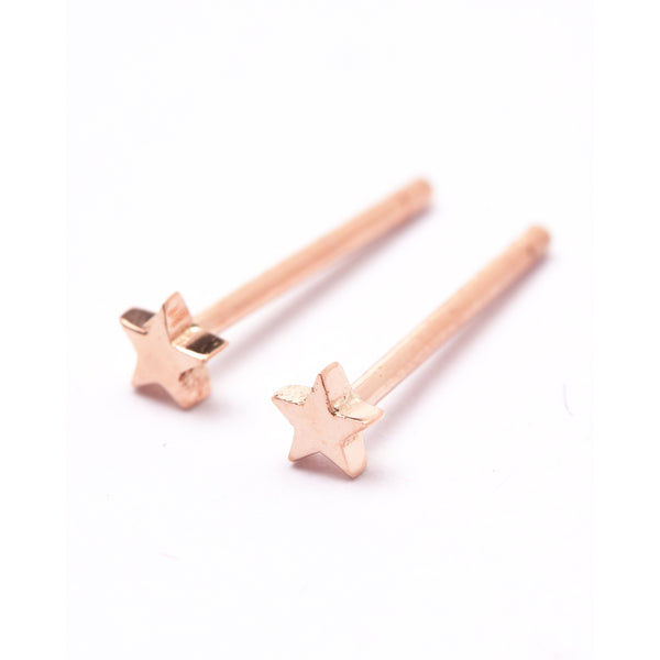 Tiny Star Stud - 9ct Rose Gold