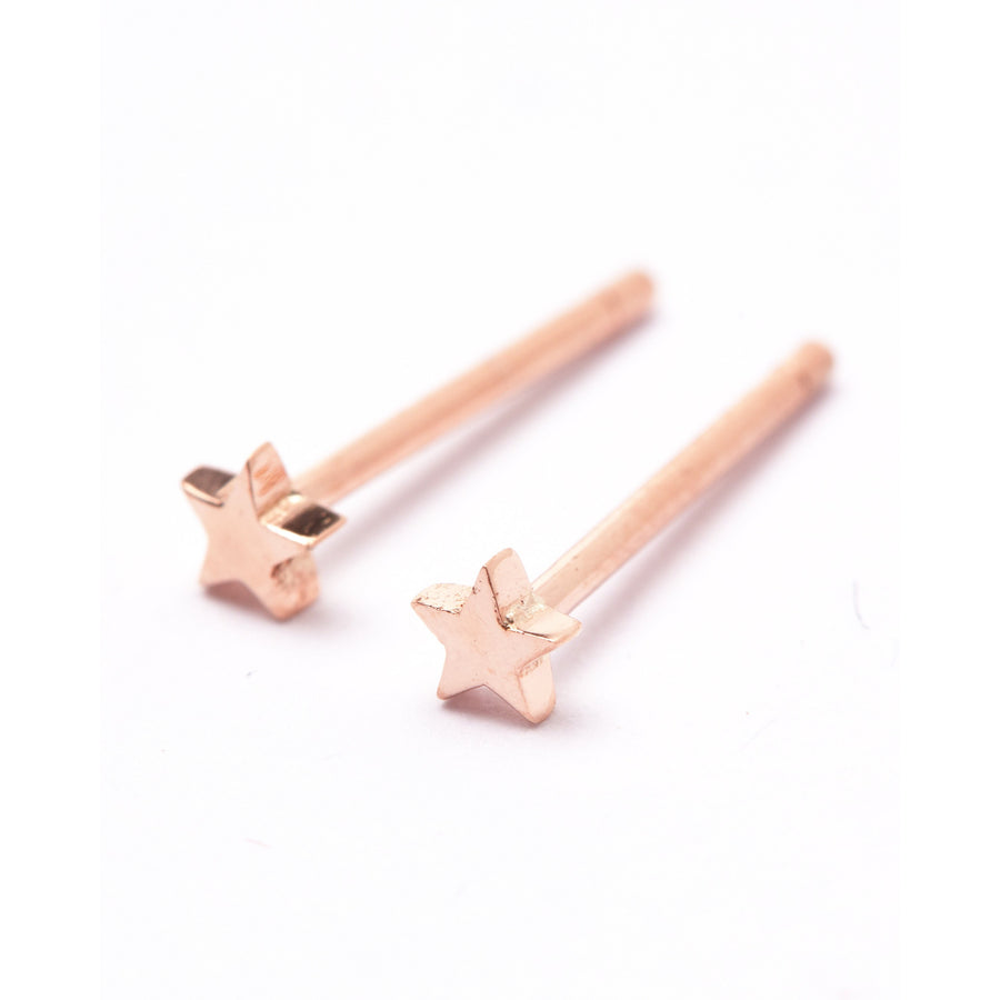 Tiny Star Studs - 9ct Rose Gold