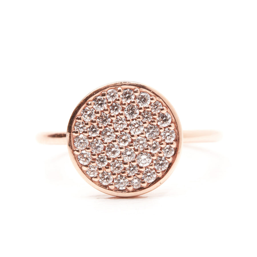 Grande Pave Diamond Ring - 9ct Rose Gold