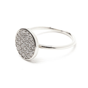Grande Pave Diamond Ring - 9ct White Gold