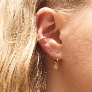 Tiny Star Stud - 9ct Gold
