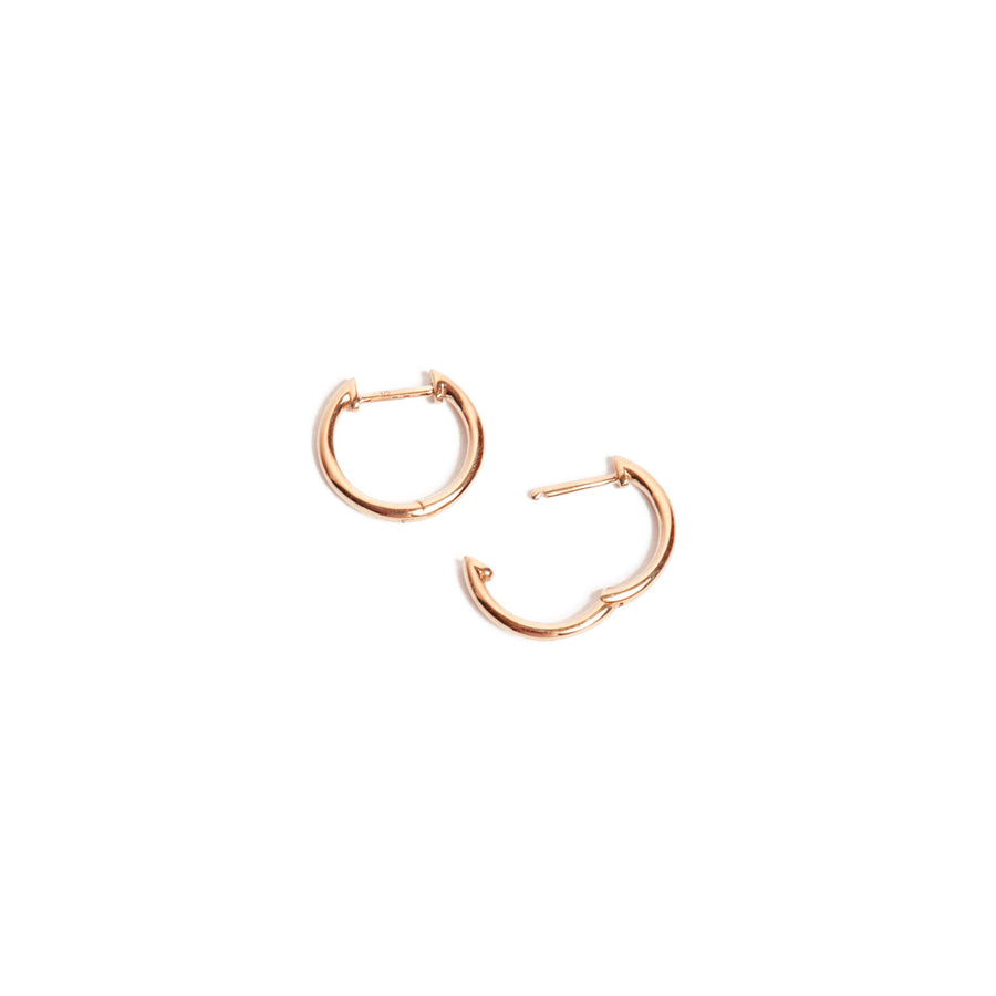 Round Huggie Medium - 9ct Rose Gold