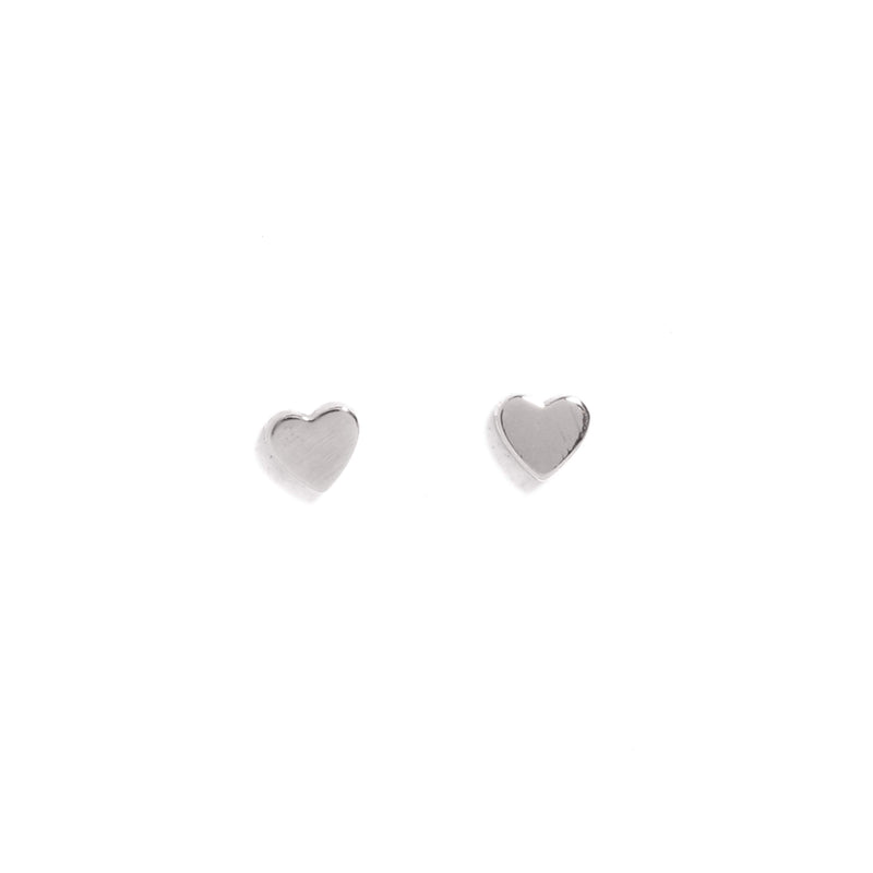 Tiny Heart Stud - 9ct White Gold