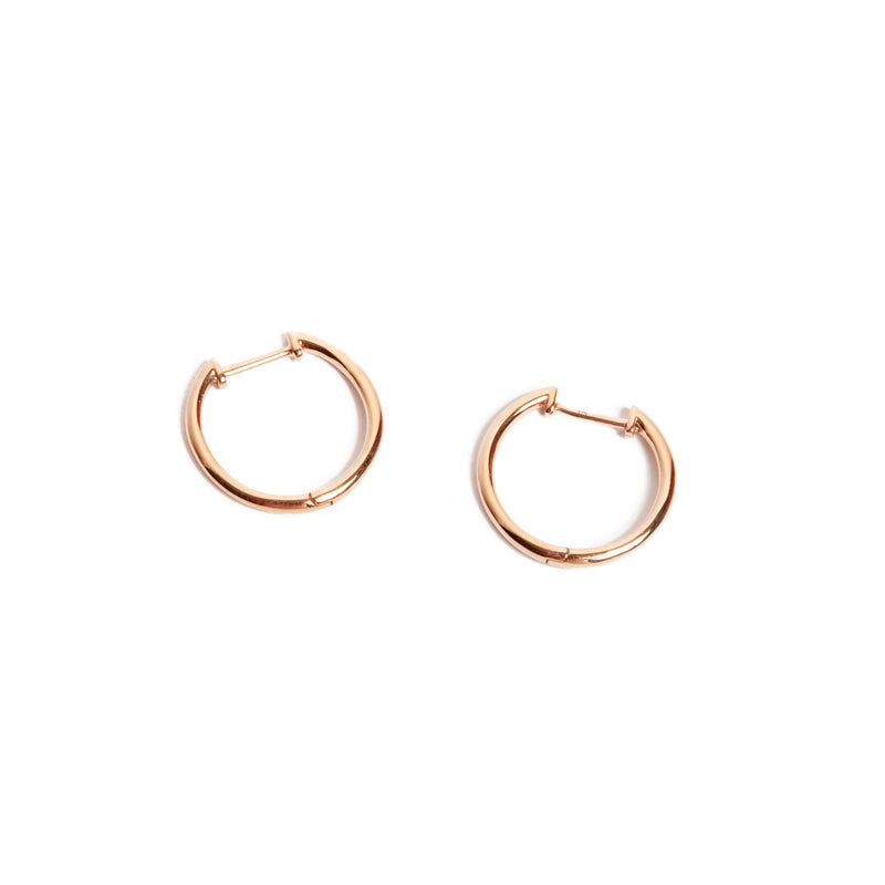 Round Huggie Large - 9ct Rose Gold