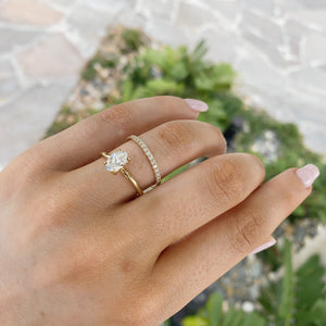 Eden Oval Diamond Solitaire - 18ct Gold