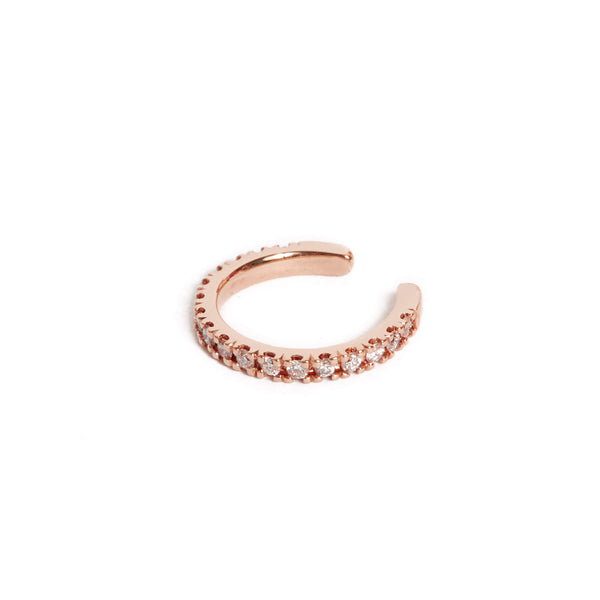 Diamond Ear Cuff - 9ct Rose Gold