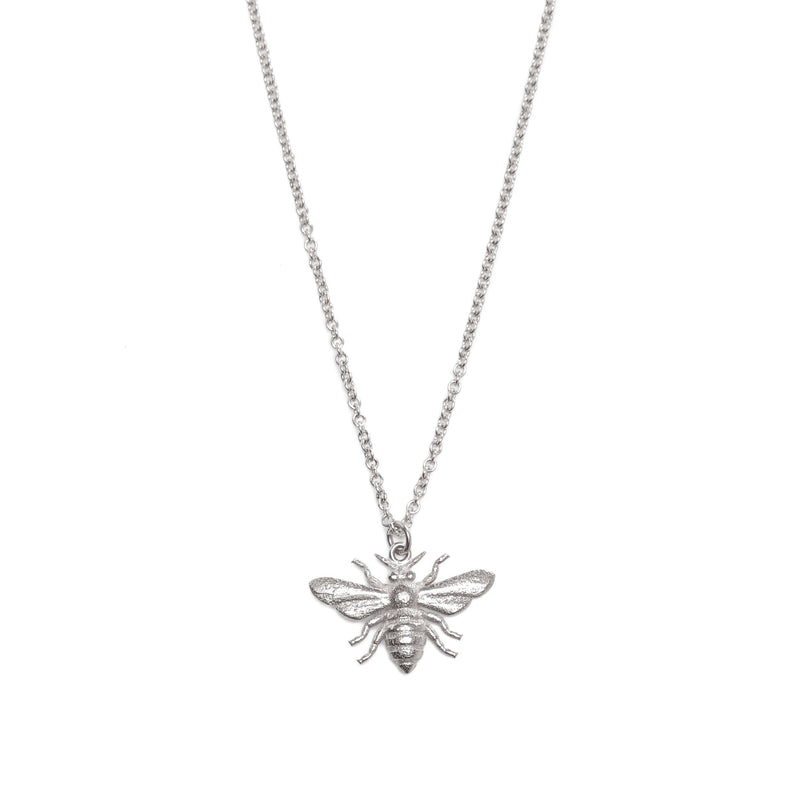Honey Bee Necklace - Silver